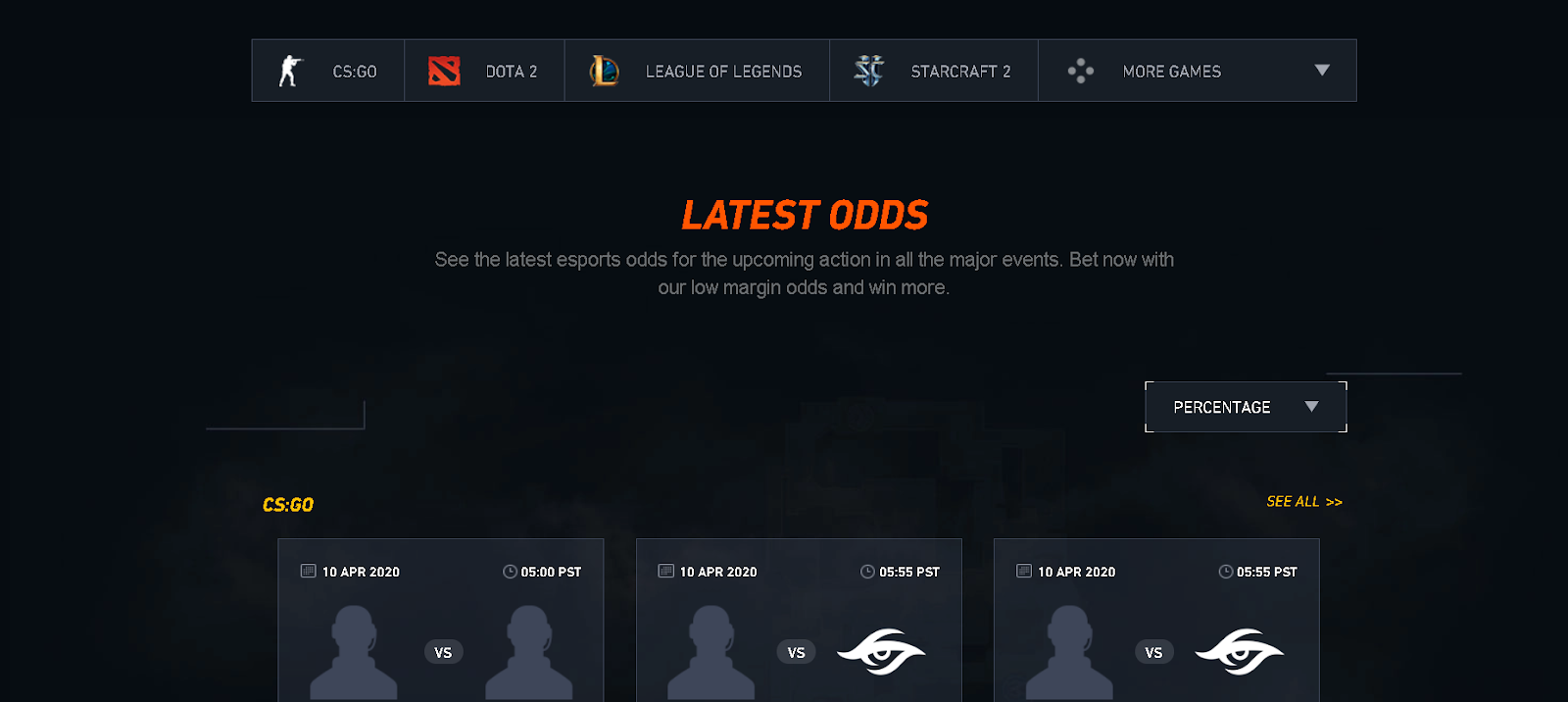 latest odds csgo
