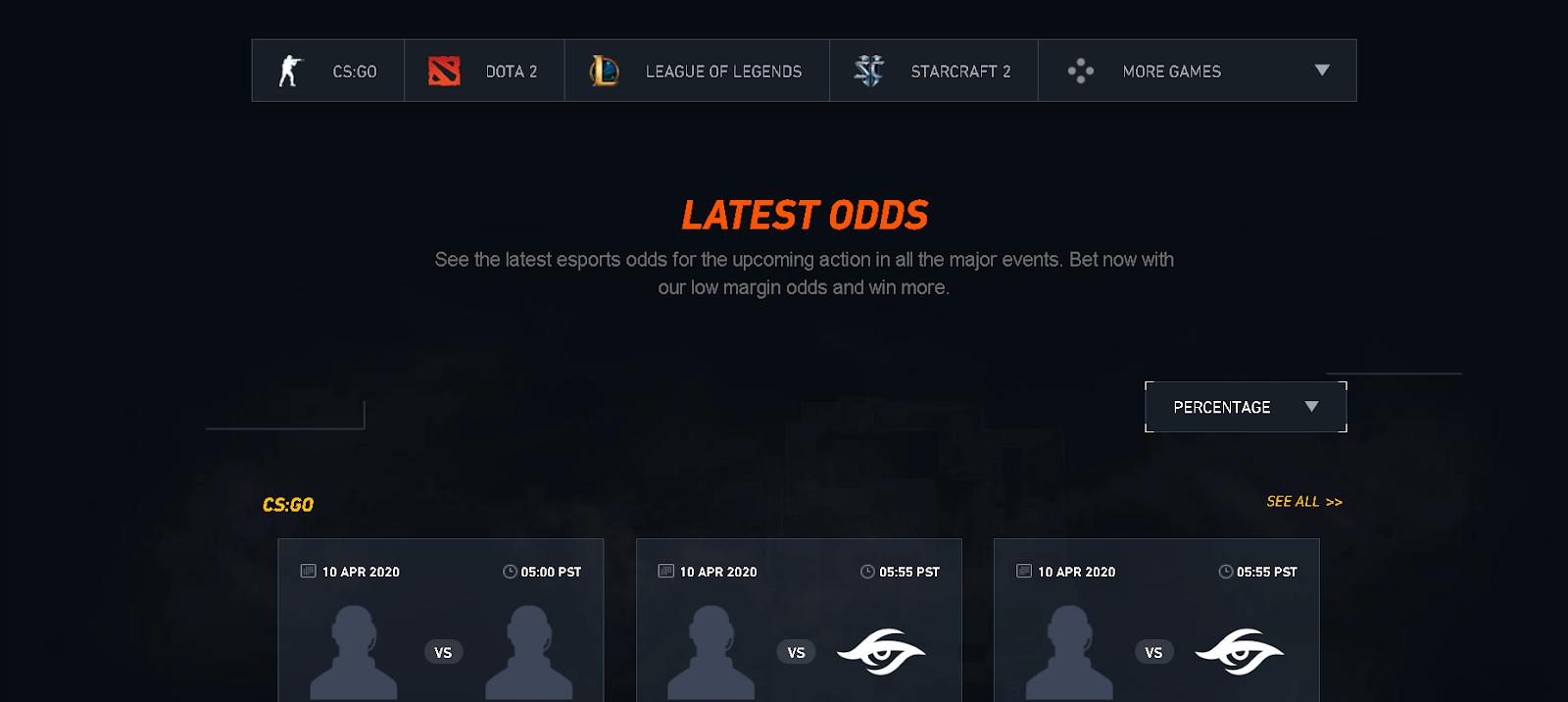 latest odds csgo