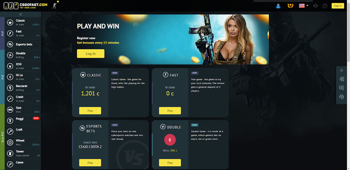 CSGO Fast Home page