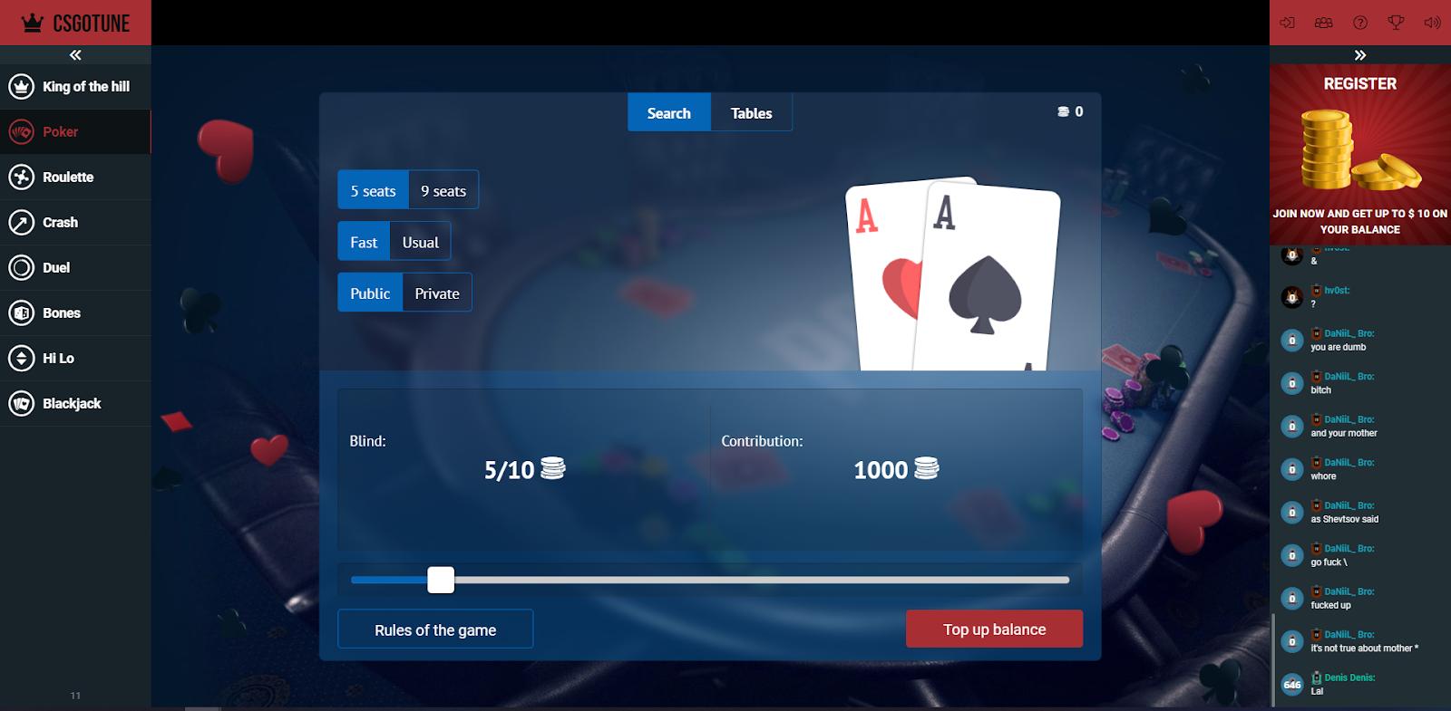 CSGO Tune Poker